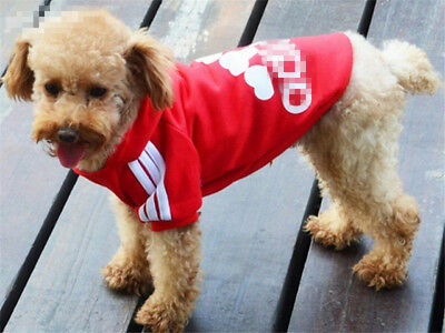 XS-9XL Pet Winter Coat Dog Warm Clothing Casual Cat Puppy Hoodie Sweater Adidog
