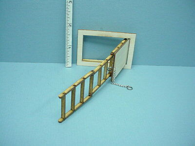 AS2299HST SCALE ALESSIO ATTIC STAIRS HALF INCH MINIATURE DOLLHOUSE 1:24