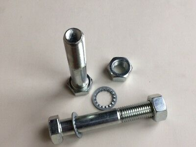 PAIR Tow Bar Tow Ball Bolts 90mm Long with Nuts /& Washers HIGH TENSILE