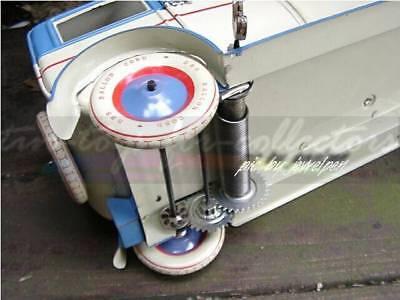 Riesige 34 Cm Lange 4 Türige Lithopgarhierte Blech Limousine Uhrwerkaufzug 6