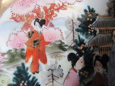 Antique Japan Nippon Geisha BOWL Kutani Bibi gilt moriage ALL hand painted 6