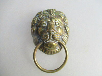 Large Lions Head Handle Pull Loop Vintage Old Architectural Antique 3