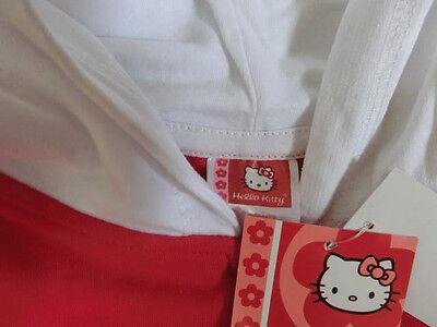 ♥ NEU ♥ Hello Kitty - Jacke  - Gr 110 - Kurzarm Kaputze rot weiß Hellokitty NEU 2