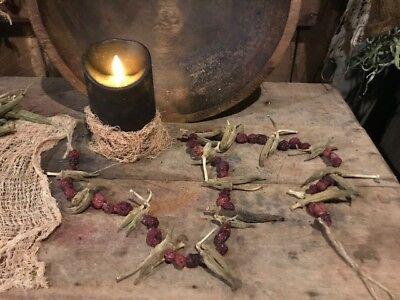 Primitive Wreath Ornaments Blackened Wax Early Homestead Bowl Filler Peg Hanger 10