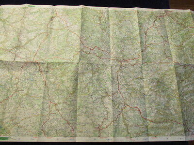 Vintage 1968 Michelin France #76 Aurillac  ST Etienne Road Map in French 5