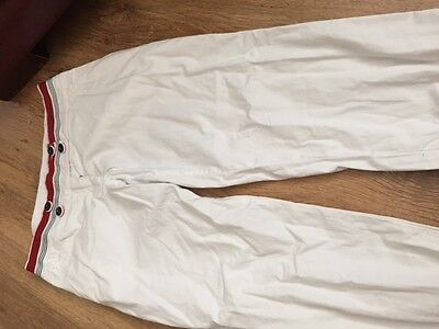 girls age 14 SIMONETTA white cotton trousers good condition 100% authentic 4