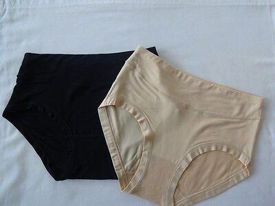 Women's Multi Coloured Bamboo Moisture Absorbing Knickers, Briefs, Pants x2 UK 2