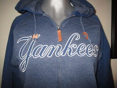 the best attitude fad5a 191e1 NEW YORK YANKEES Hoodie Full Zippered Sweatshirt - Majestic - NWT
