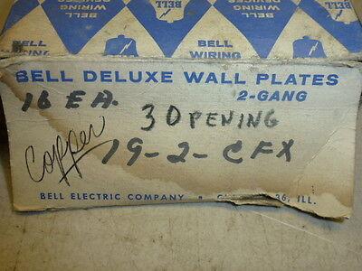 Nos! Bell Interchange 2-Gang Copper Finish Wall Plate, Horizontal, 19-2-Cfx