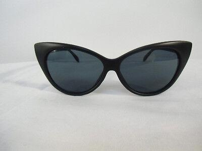 5b86519b15 ... Lunettes de soleil papillon cats eyes yeux chat retro vintage monture  noire mate 5