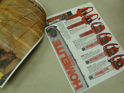 VINTAGE HOMELITE & McCULLOCH CHAIN SAW SALES BROCHURE w/ SPECS