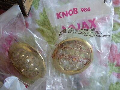 Lot of Vintage Ajax Drawer Knob Pull Cabinet Hinges Filigree New NOS 5