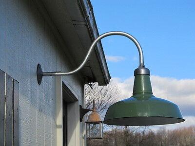 Barn Light, Vintage Barn Light, Gas Station Light, Gooseneck Pipe, Industrial 7