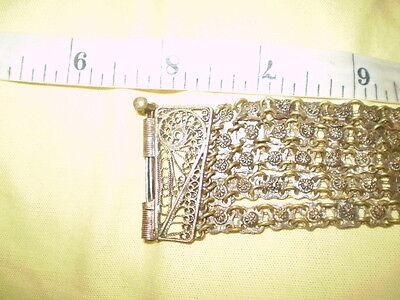 Old  RARE HANDMADE-ANTIQUE -BRACELET  filigree Handmade Bronze 11