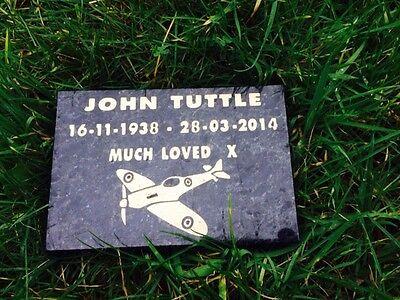 Granite Bespoke cremation memorial stones,Grave Marker, Plaque 12mmx300mmx300mm 5