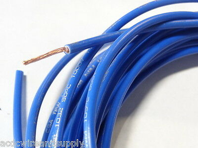 18 GAUGE AWG  PRIMARY WIRE 1000 FT  COPPER POWER GROUND MTW WHITE W// BLUE STRIPE