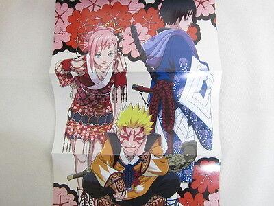 NARUTO Hiden Douga Emaki Official Anime Book W Poster Art SH01