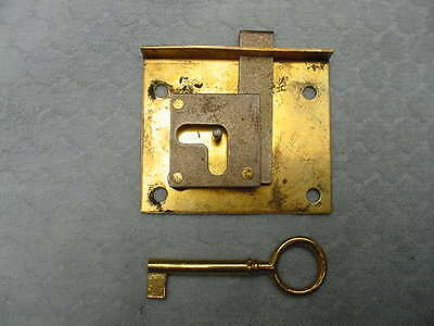 Brass Drawer Locks Polished Set of 5 Never Used Key Furniture 5