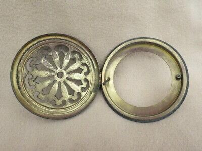 Antique German Pierced Brass Clock Back To Fit An Aperture 10.7 Cm (Lot 23) 2