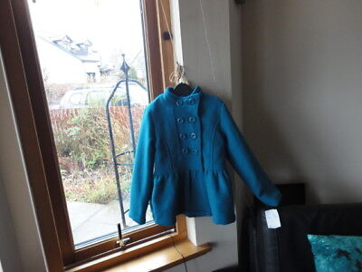Stunning Teal Double Breasted Jacket from ONME, Size 7-8yo,New with tags 2