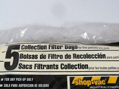 Shop-Vac Canada Collection Filter Bag For Fine Particles & Dust 5/Bag ! NWB ! 3