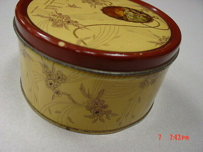 Vintage Dusting Powder Box Lavender Bath Langlois EMPTY Metal Tin Art Deco 8