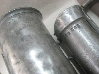 3 antike  Apothekermass Doppel Liter Double Litre u. a. Museum Auslage Laden 12