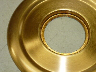 """VINTAGE Kwikset DOOR ESCUTCHEON 5-1/2"""" Diameter, fin: US10 BRONZE 2"""