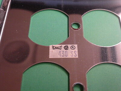 Nos! Eagle Electric 2-Gang Brushed Nickel Finish, Duplex Receptacle Wall Plate 2 • CAD $6.94