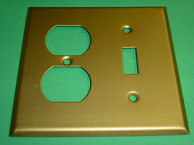 Nos! Brass Alloy, Combo Toggle Switch & 2-Gang Duplex Receptacle 4