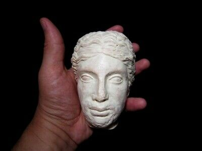 HELLENISTIC TERRACOTA HEAD OF A YOUNG PRINCE as GREEK GOD DIONYSIUS, REPLICA!!! 6