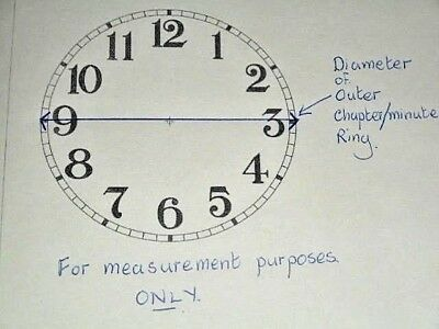 "Round Paper (Card) Clock Dial - 9"" M/T - Roman - MATT WHITE -  Parts/Spares 3"