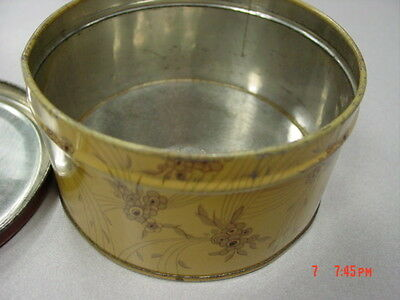 Vintage Dusting Powder Box Lavender Bath Langlois EMPTY Metal Tin Art Deco 2