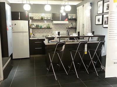 Ikea Nexus Black Brown Kitchen Cabinet 18 45 Cm Deep Drawer