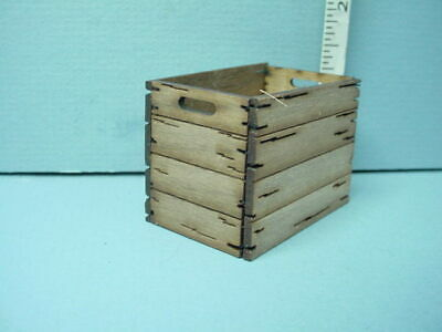 "Miniature Tall Assembled Crate /""Nine Acre/"" Laser Creations 1//12"