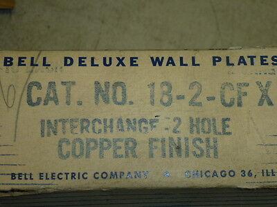 Nos! Bell Interchange 2-Gang Copper Finish Wall Plate, Horizontal, 18-2-Cfx 3