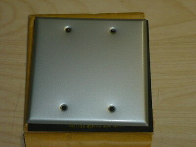 Nos! 2-Gang Mill Finish Blank Wall Plate, Wet Location 2