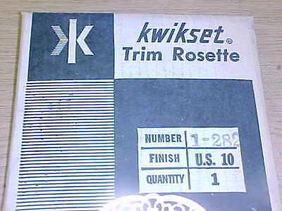 VINTAGE Kwikset DOOR ESCUTCHEON ROSETTE 1-282, fin: 10
