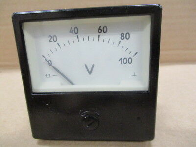 Voltmeter М1001 scale 0-100V accuracy class 1.5 USSR 1985 5