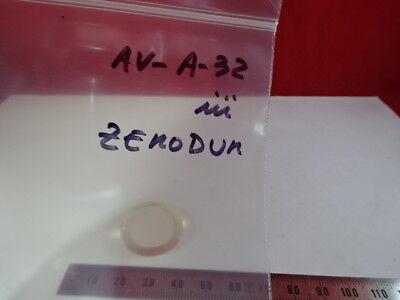 """Optique Zerodur Plat 1 """" Diamètre Laser Pro Optiques Tel Quel &av-a-32 9"""