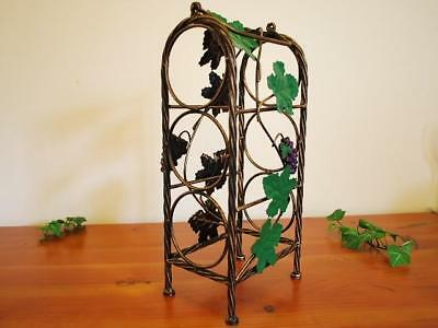 Wrought Iron French Vintage GrapeVine Wine Rack Stand
