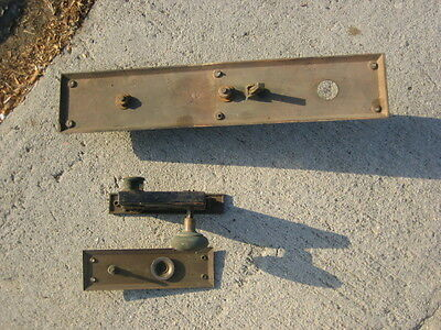 ant/vtg BL Brass Mortise Lock Exterior Deadbolt (complete set) 6