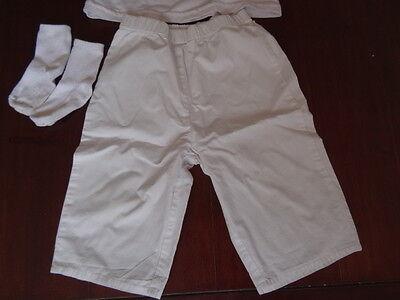 Ensemble Panta-court blanc + T-shirt blanc brodé + Chaussettes Taille 23 mois 3