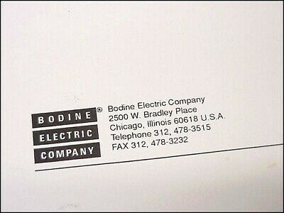 BODINE ASH-400 DC Motor Controller Manual, Wiring Diagram, Pin Out on