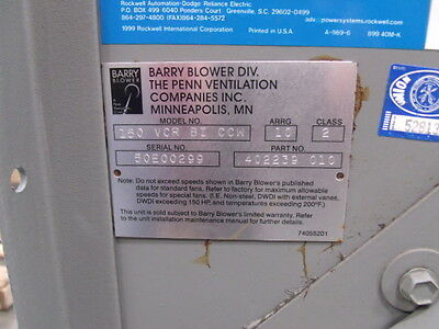 Barry Blower - Model 150VCRBICCW with Siemens 3 HP Motor 4
