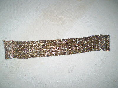 Old  RARE HANDMADE-ANTIQUE -BRACELET  filigree Handmade Bronze 6