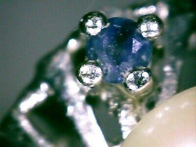 Damen Ring 585 Gold  14ct. 1 Perle 6 Saphir, 18mm #8154 10
