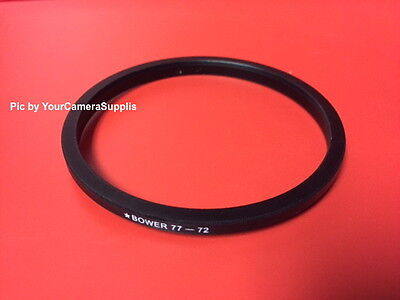 1(ONE) ADAPTER-RING: Black 77mm to 72mm 77-72mm Step Down Filter Ring 77-72 mm 3