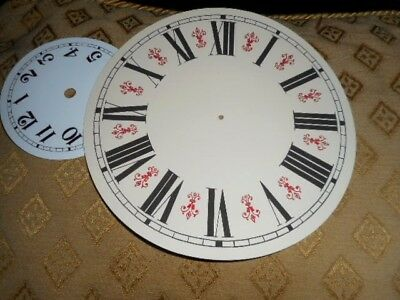 "Round Vienna Style Paper Clock Dial - 8"" M/T - GLOSS CREAM-Face/ Parts /Spares 2"