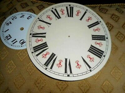 """Round Vienna Style Paper Clock Dial- 6 1/4"""" M/T- GLOSS CREAM-Face/ Parts/Spares 3"""